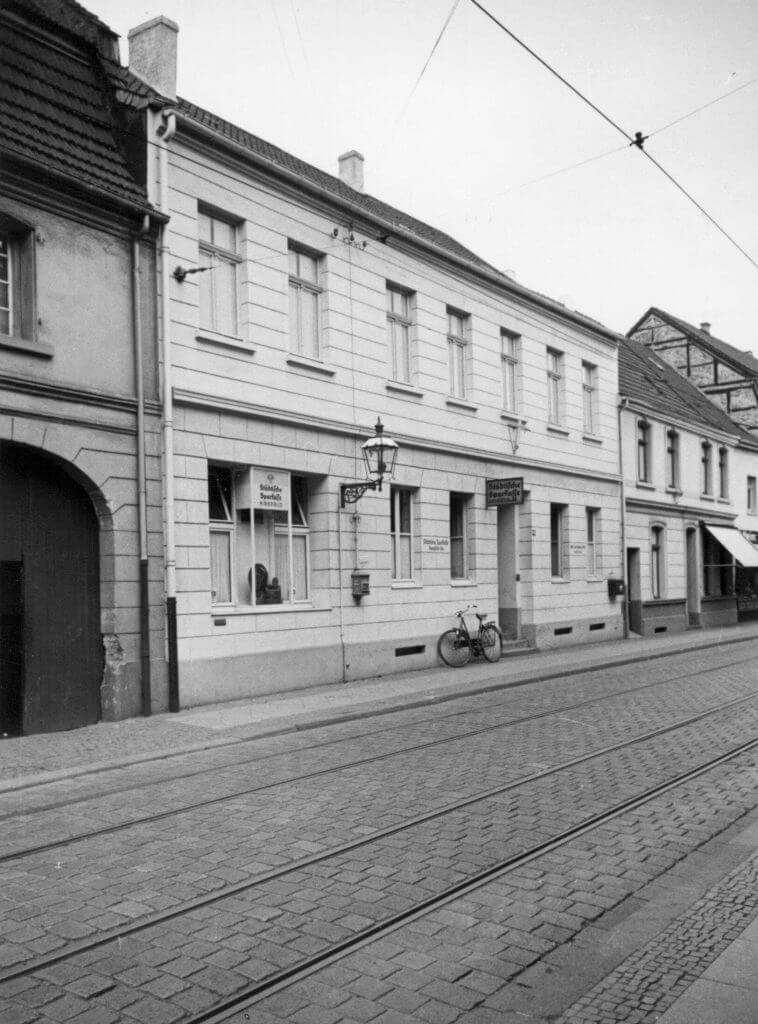Rheinbabenstr. 110 im Jahre 1938 (Quelle: Der Oberbürgermeister, Stadtarchiv Krefeld)